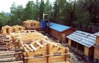 Log houses factory