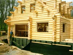 Log cabin house
