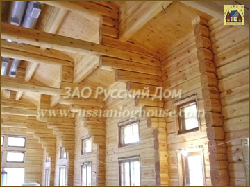 Log cabin house 2400m2